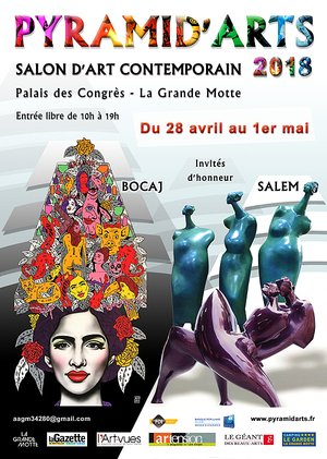Salon d 39 art contemporain pyramid 39 arts palais des congres for Salon art contemporain montpellier