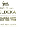 affiche EXPO N°1 by Eldeka w/ Middle. Froobskank, Sofa. Insure, Jahsoo