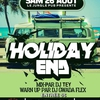 affiche Holiday End | Djs Tey & Gwada Flex
