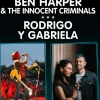 affiche BEN HARPER & THE INNOCENT CRIMINALS + RODRIGO Y GABRIELA